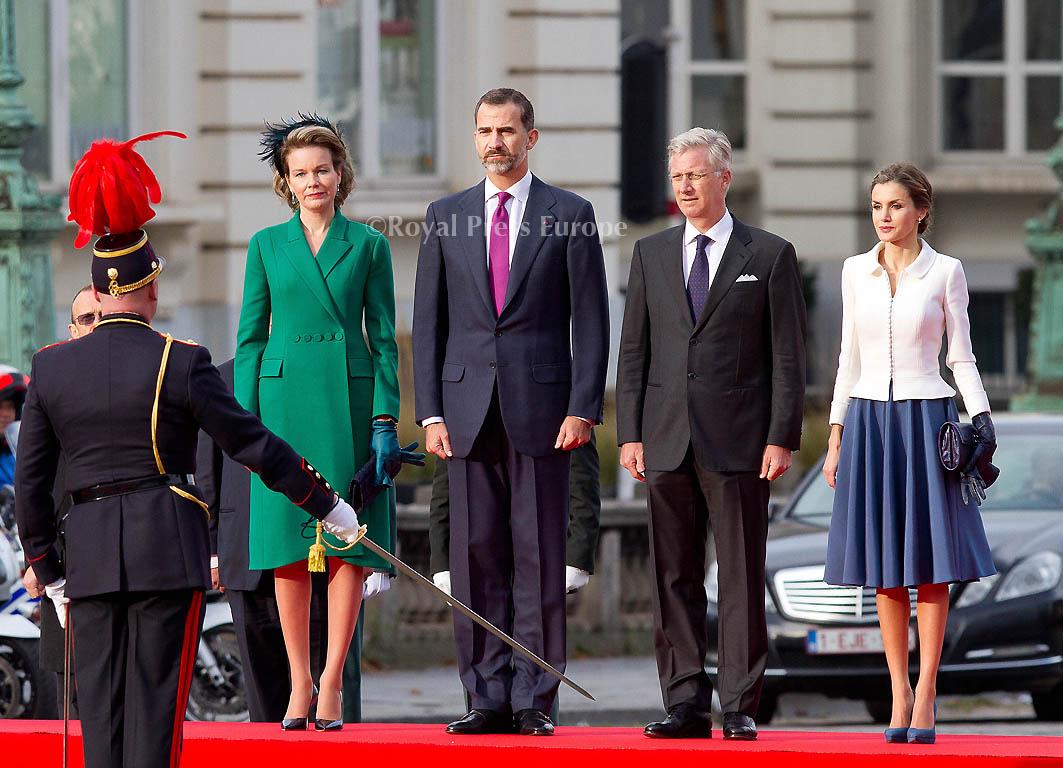 Spanish Monarchs Continue to Belgium