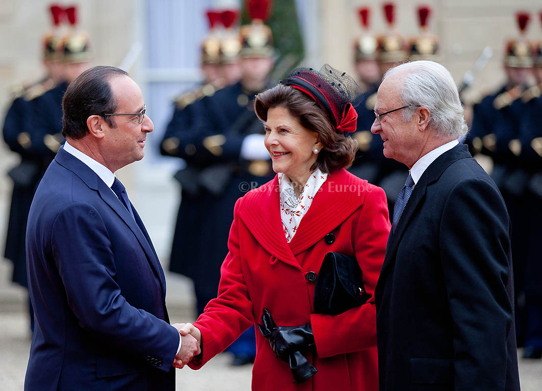 King Carl Gustaf and Queen Silvia visit France