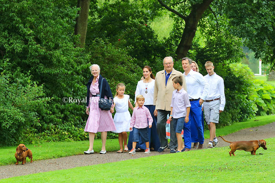 Danish Royal Family Poses for Media