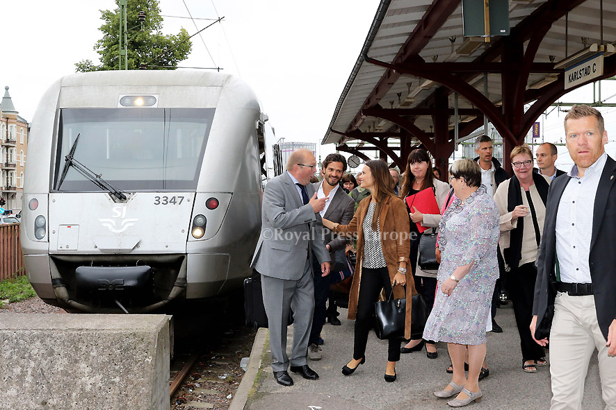 Carl Philip and Sofia take train to Karlstad for 2-day visit to Värmland