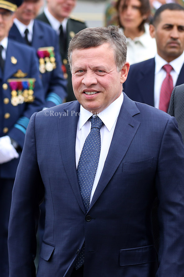 Arrival of HM King Abdullah II  and Queen Rania