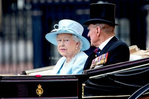 Queen Elizabeth 2 Riding in the Troop the Colour