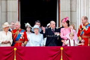 Queen Elizabeth with her family