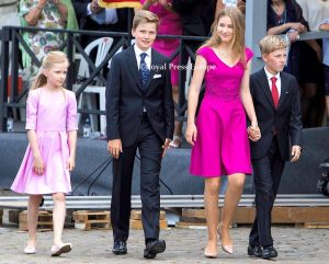 King Philippe, Queen Mathilde 4 children