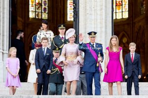 King Philippe, Queen Mathilde family